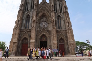 FIU Global Health Study Abroad Students at St. Philomena's Church
